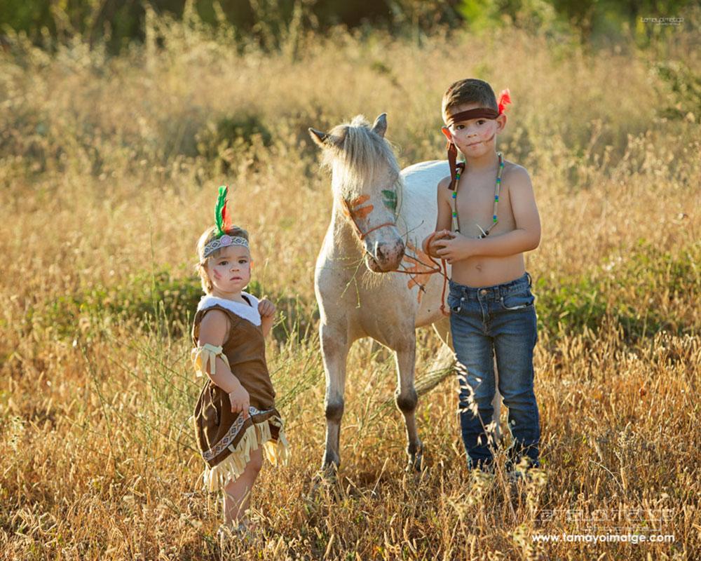 Fotos en el campo, con David y Eva